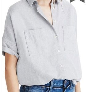 Madewell button down cotton top